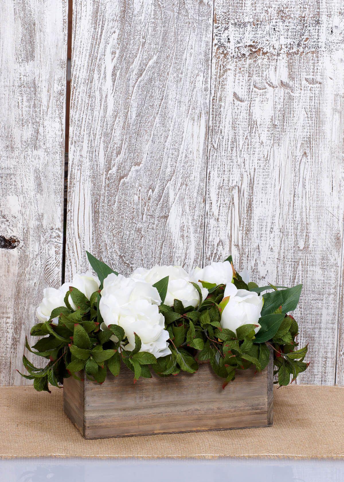 Planter Box Wood 10x5 Rustic Wedding Decor Wood Planters Rustic Wedding Decor Diy