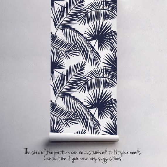 Tropical palm leaf wallpaper | Exotic leaves | Palm leaf print | Tropical wall decal | Tropical wallpaper #23