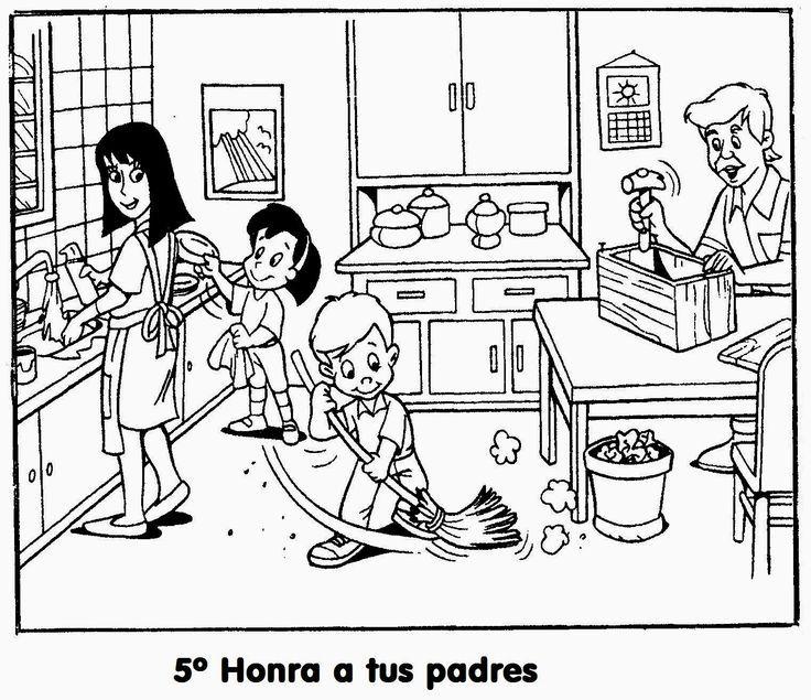 Imagenes Cristianas Para Colorear: Dibujos Para Colorear De Los Diez ...
