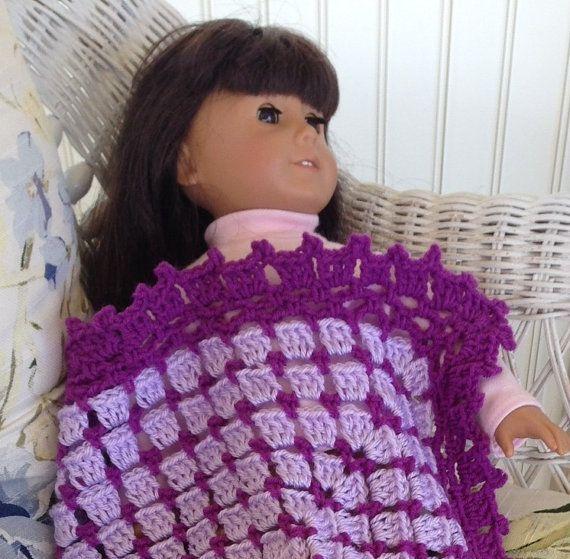Ganchillo muñeca manta afgana lavanda púrpura violeta ribete ...