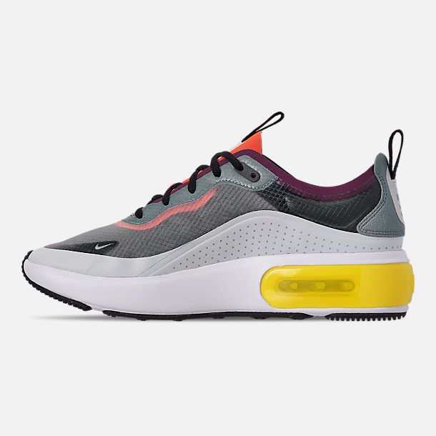 watch d10d6 98678 Left view of Women's Nike Air Max DIA SE Casual Shoes in Grey/Black/Off  White