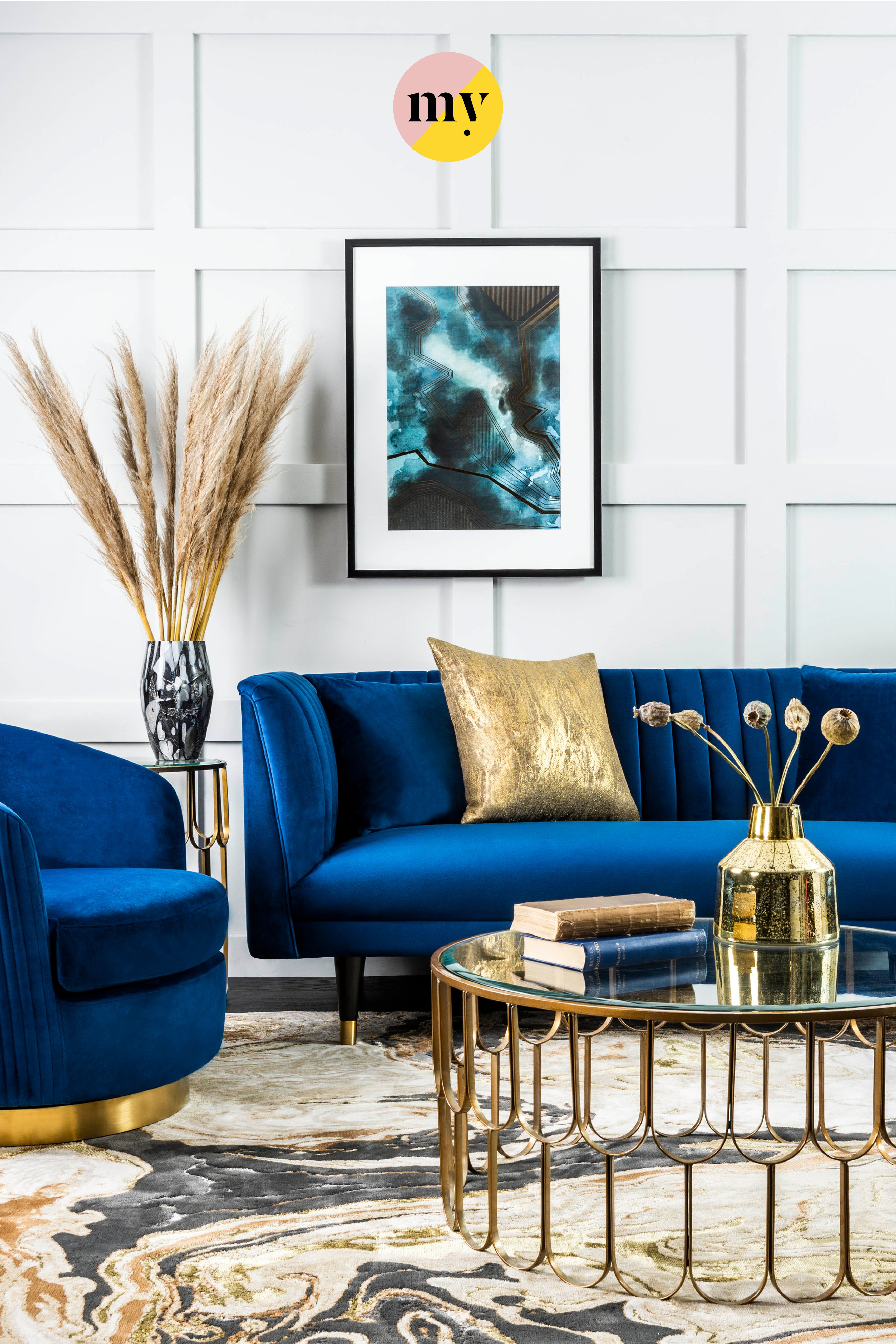 Baxter Three Seat Sofa Navy Blue Blue And Gold Living Room Blue Sofas Living Room Black Living Room Decor