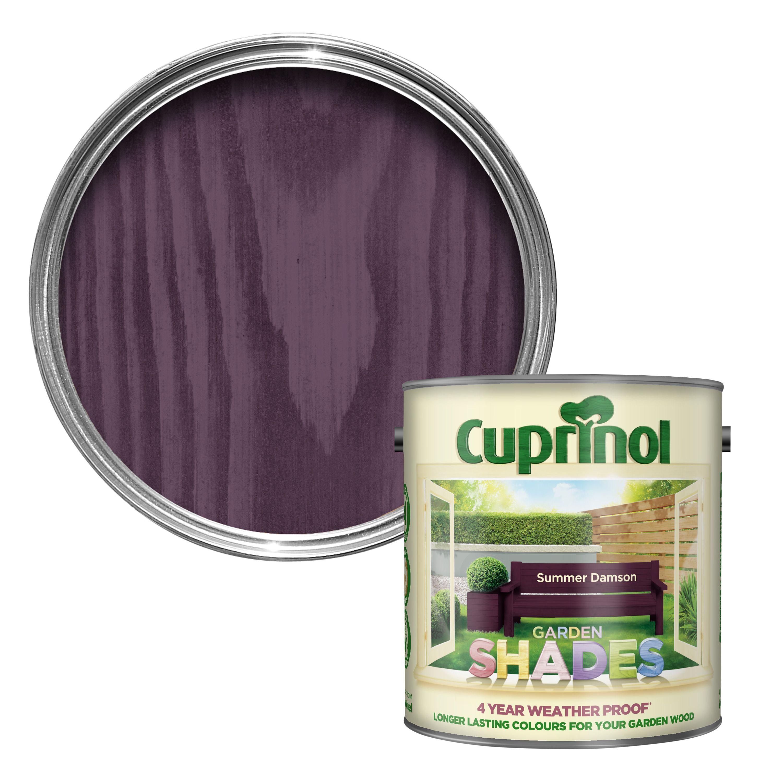 cuprinol garden shades summer damson matt wood paint 2.5l | garden