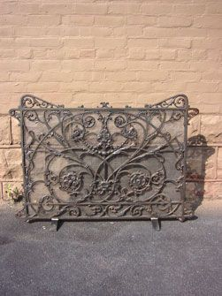 Cast Iron Grill  Fireplace Screen