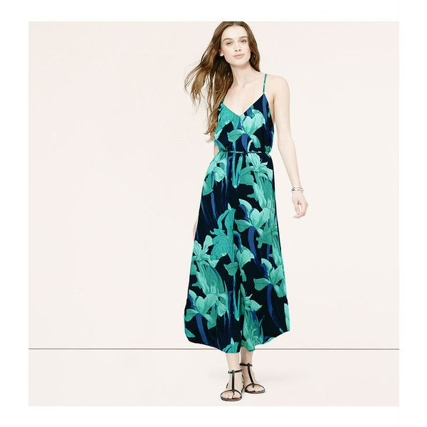 LOFT Tall Night Lily Maxi Dress ($50) ❤ liked on Polyvore featuring dresses, forever navy, navy blue dress, lily dress, white maxi dress, tall maxi dresses and v neck dress