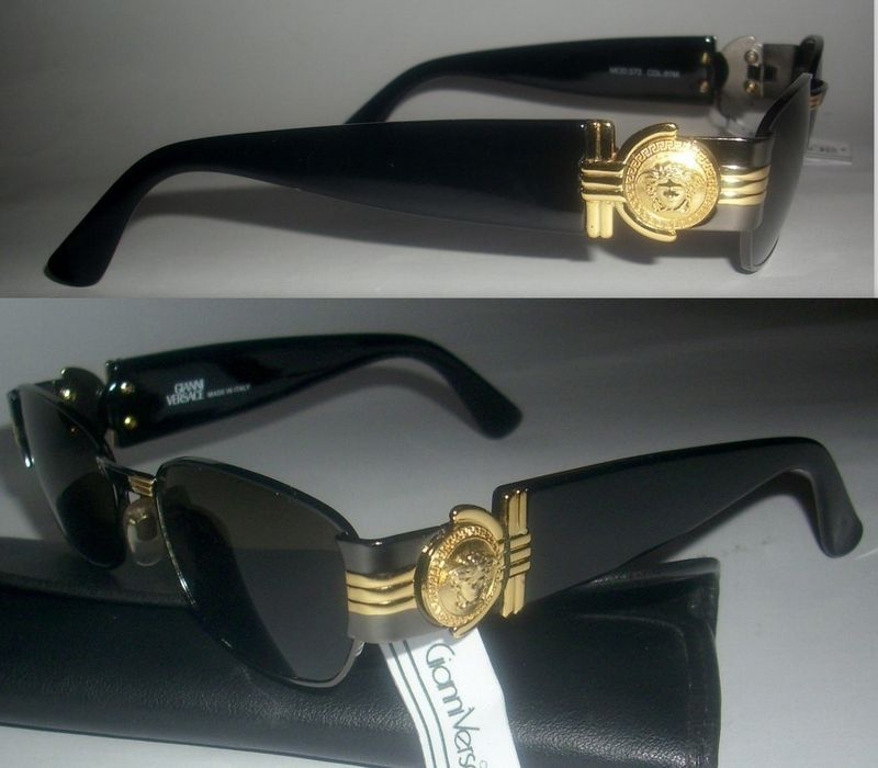 Gianni versace s73 mens sunglasses- all gold medusa art deco ...