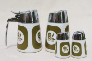 retro kitchen canisters--with morning glories