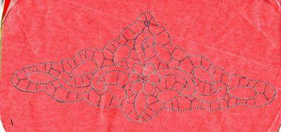 Inserto merletto di Burano per lenzuola o tovaglia