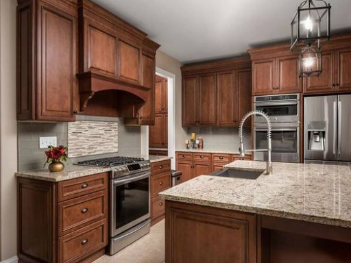 Best Fabuwood Wellington Cinnamon Kitchen Reno In 2019 400 x 300