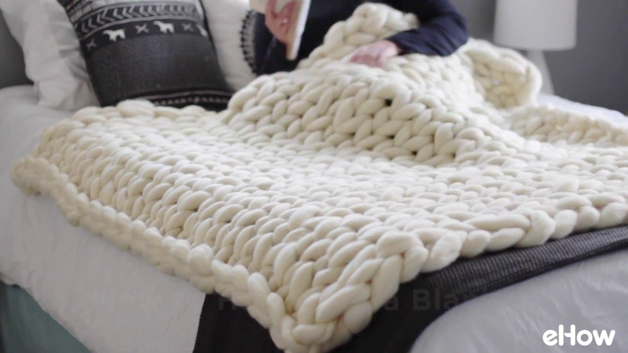 How to Hand Knit a Blanket YouTube Knitted blankets