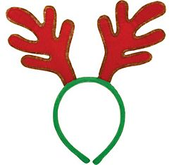 Red Reindeer Antlers Headband | all party city i want | Pinterest ...
