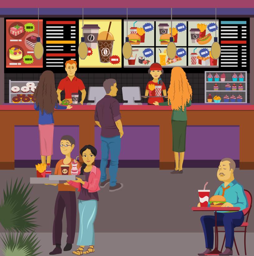 Fast Food Bar And Beverage Court Pinterest