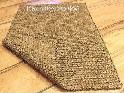 2 X 3 Large Doormat, Crochet Jute Door Rug, Handmade