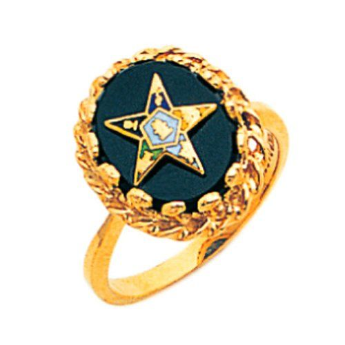 New Ladies 10k Gold Masonic Freemason Eastern Star Ring Size 5 Continue To The Product At The Image Link Eastern Star Star Ring Stars