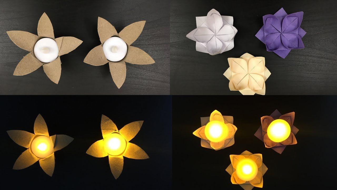 Origami Lotus   Diwali Decorations   Easy Diwali Diya Making With Paper   Paper Crafts
