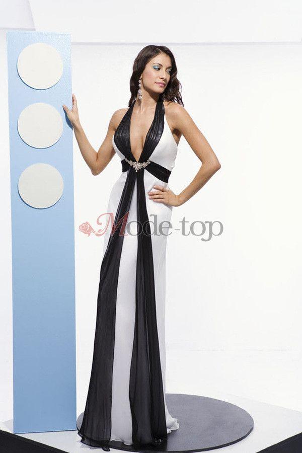 großes Bild 1 Nackenband formelles bodenlanges Ballkleid/ Abendkleid ...