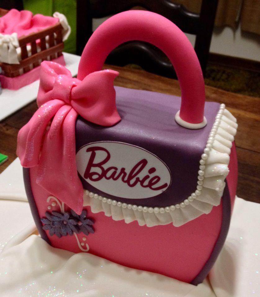 Barbie Bag Cake Kids Birthday Cakes Pinterest Cake Birthday