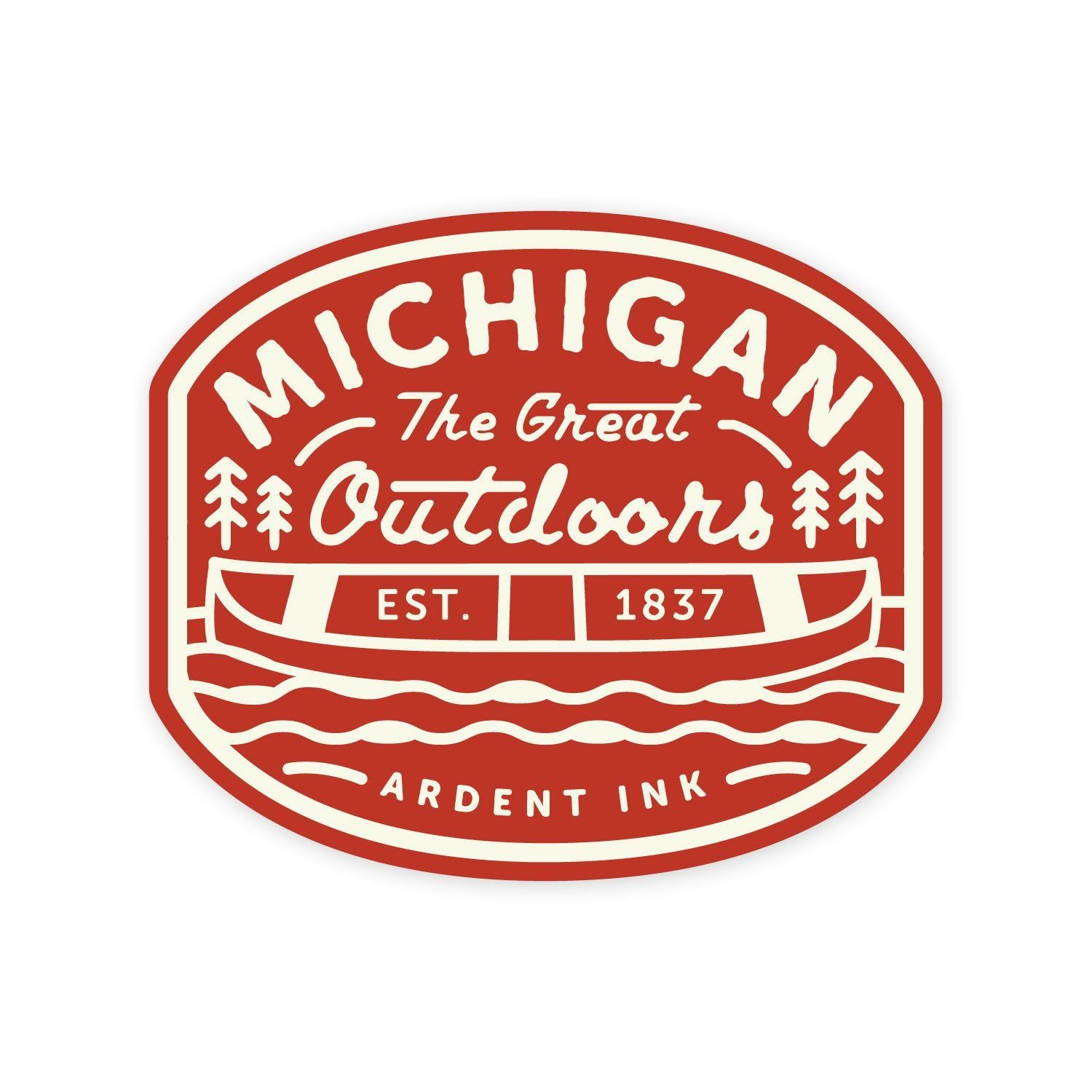 Great Outdoors Sticker - Ardent Ink