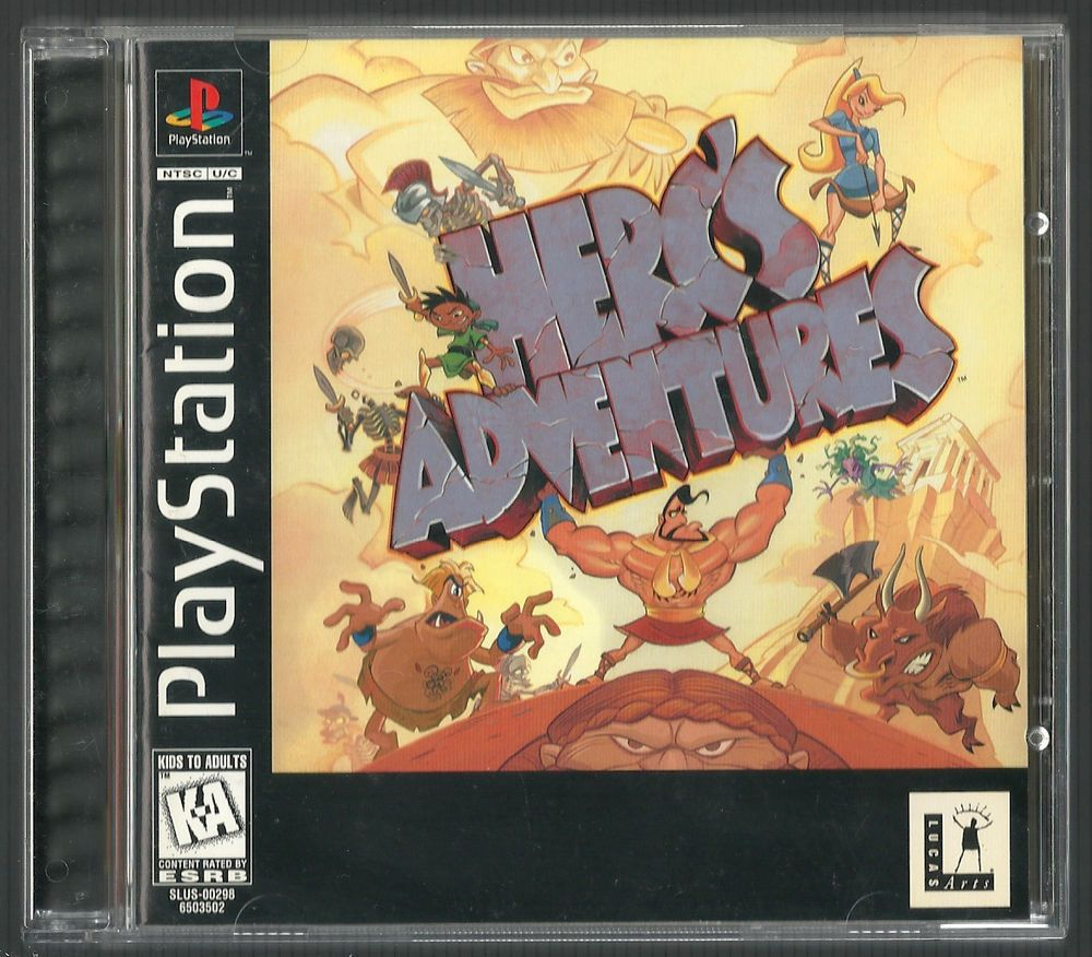 Herc's Adventures Sony PlayStation 1, 1997 PS1 Complete