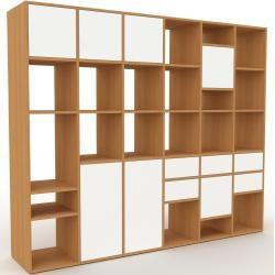 Photo of Regalsystem Eiche – Regalsystem: Schubladen in Weiß & Türen in Weiß – Hochwertige Materialien – 233
