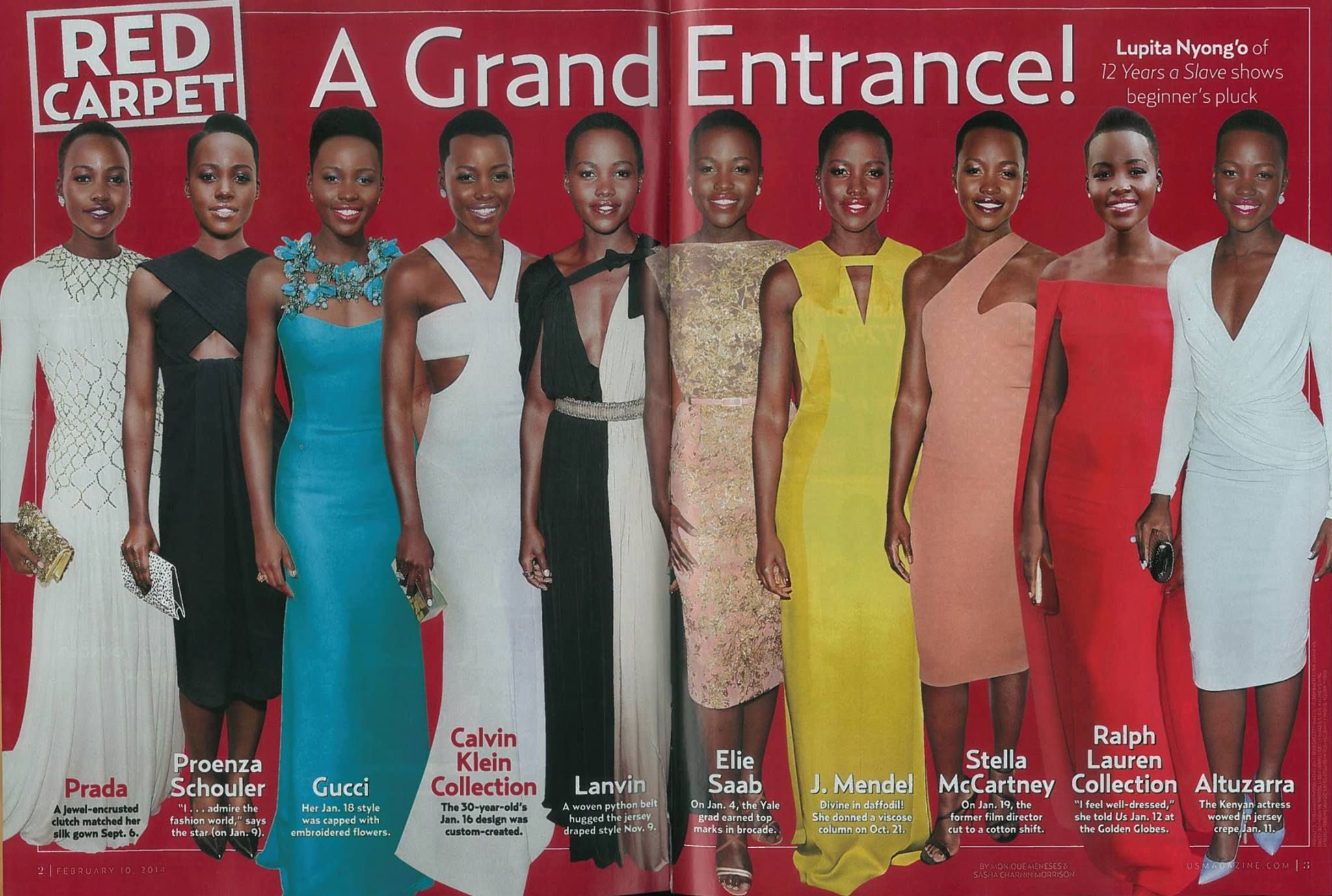 Red carpet looks from lupita oyonguo uc color splash