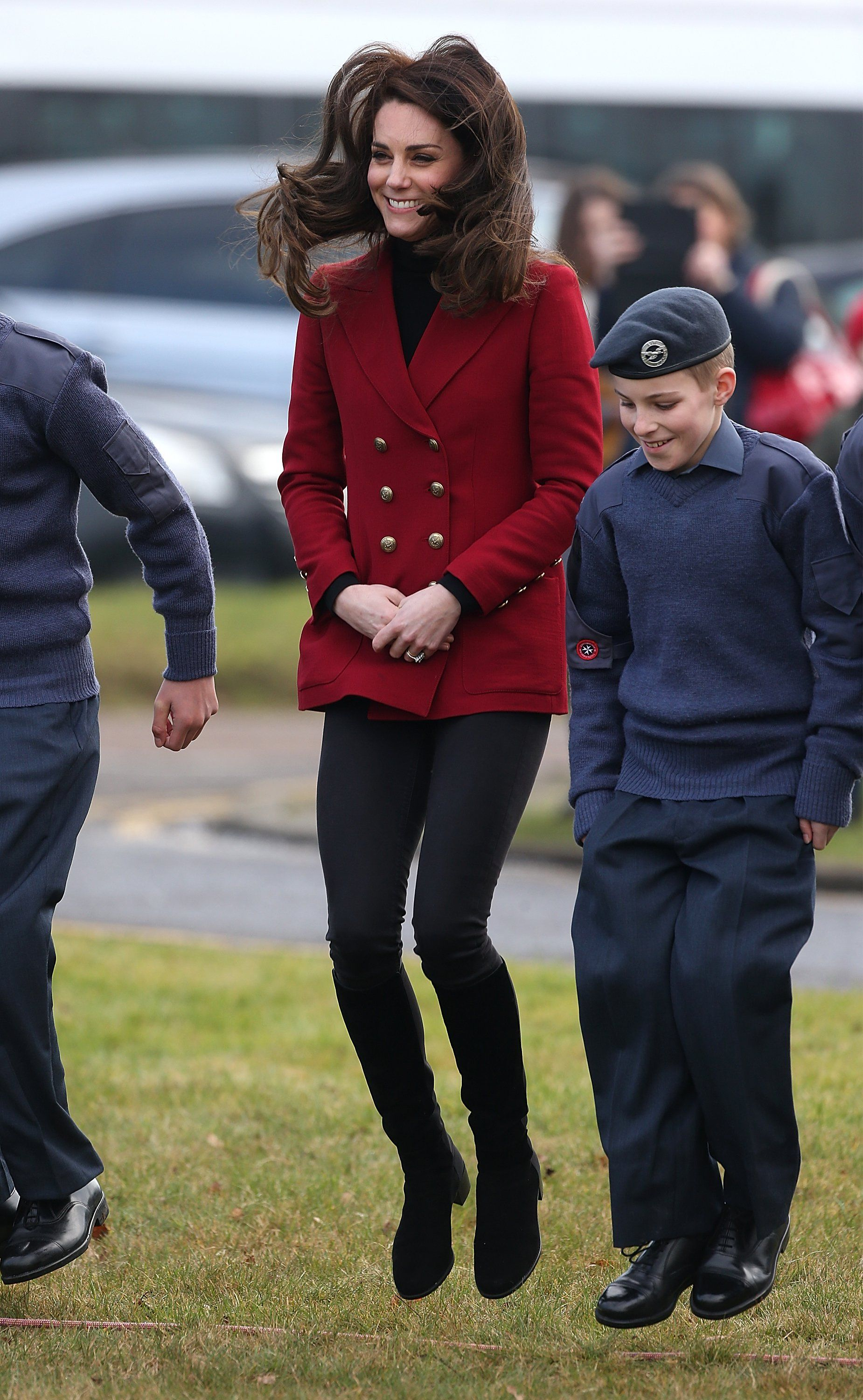 Here's Kate Middleton Looking Flawless While Jumping