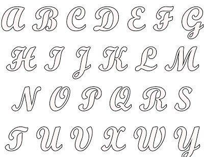 Molde De Letras Do Alfabeto Cursivas Lettering Alphabet Hand Lettering Alphabet Letter Stencils