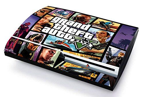 Gta v grand thef auto 5 skin cover ps3 fat hd limited edition decal cover adesiva