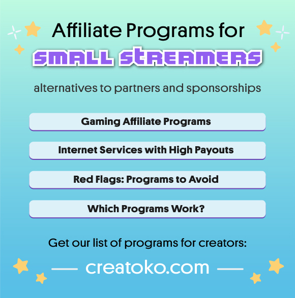 Affiliate Programs For Small Streamers 14 Twitch Affiliate Sponsor Alternatives Twitch Streaming Setup Affiliate Programs Twitch