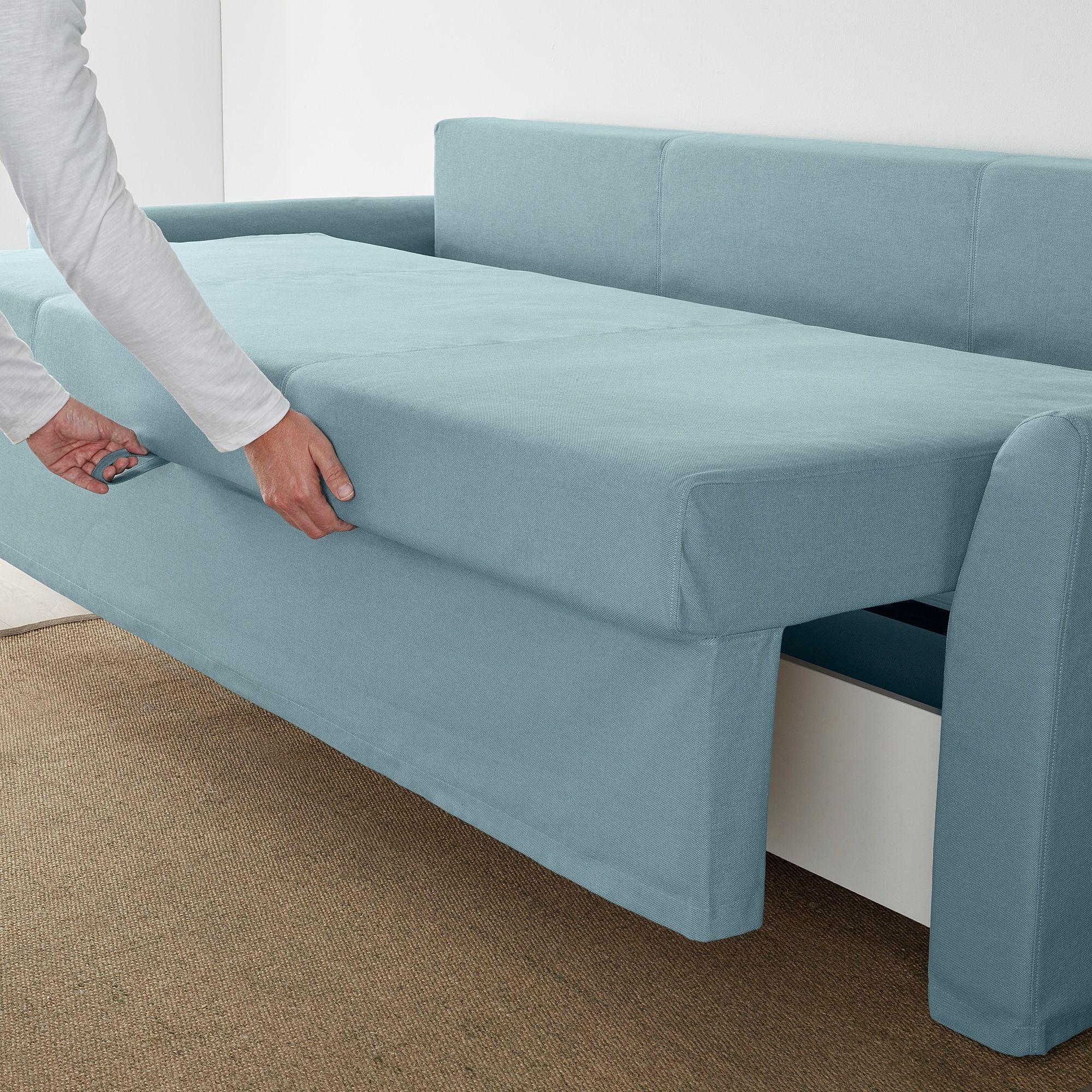 HOLMSUND Sleeper sofa, Orrsta light blue IKEA in 2020
