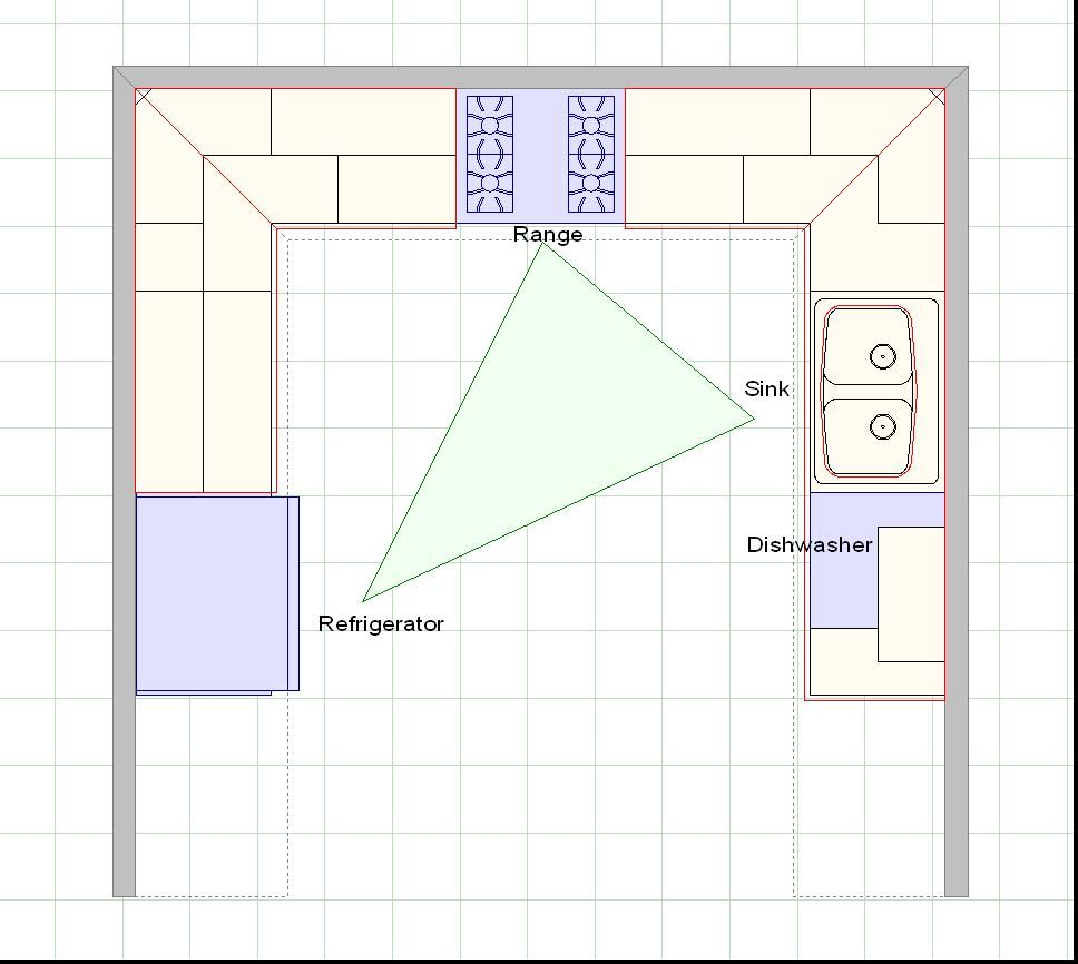 Kitchen Design Layout Graph Paper Measure The Four Walls Of Your Kitchen Design Planner And Floor