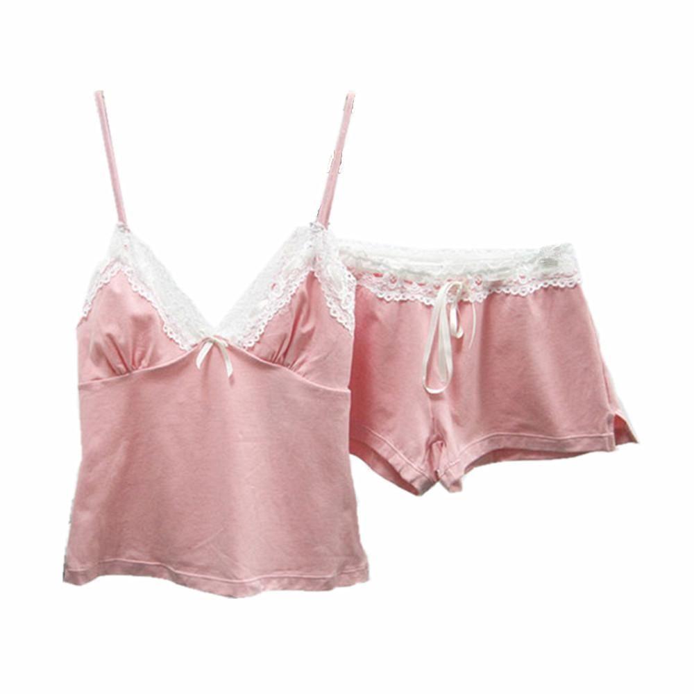 ... Pyjamas Women Homewear Pijama Set Black. Sexy Pajamas With Lace Cotton  Strap Vest and Shorts Pyjama Femme Floral Fashion Nightgown. 9568c40ee