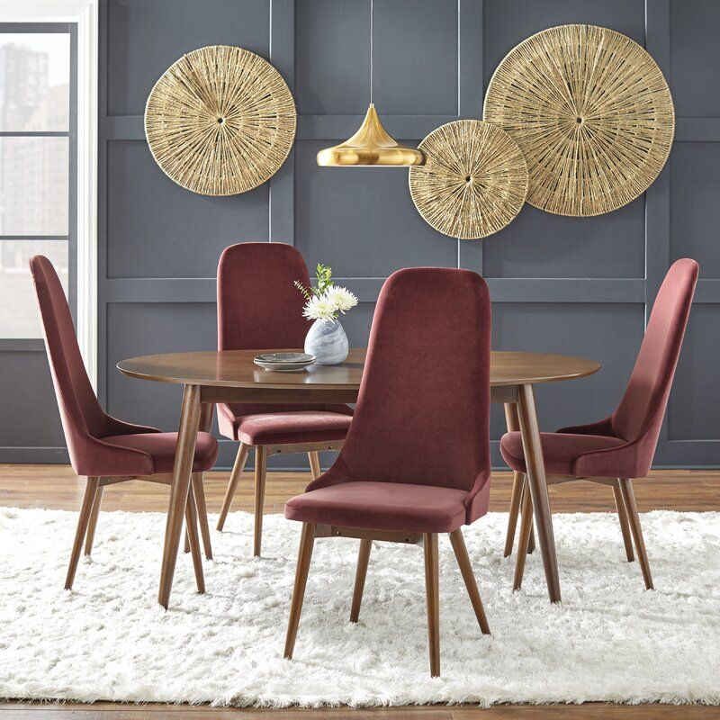 Wareham 5 Piece Dining Set Allmodern Modern Dining Room Set Fully Upholstered Dining Chair Dining Room Sets