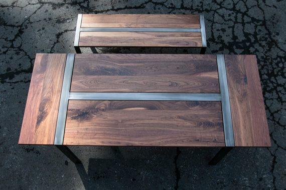 Expandable Walnut Zeeva Dining Table Optional Bench Set Steel Frame Custom Esstisch Tisch Und Stahlrahmen