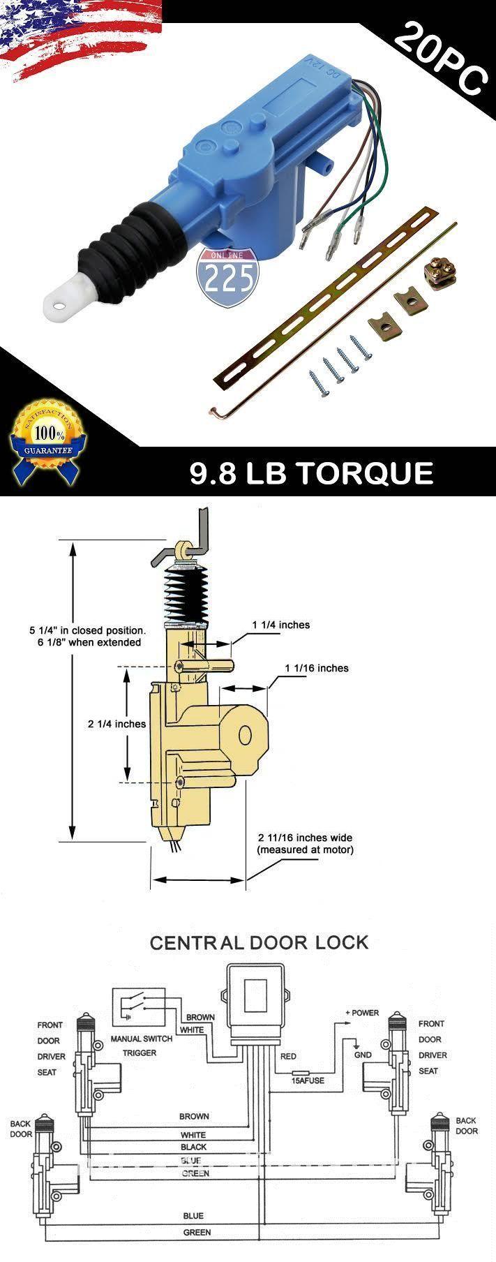 5 Wire Door Lock Actuator Wiring Diagram : actuator, wiring, diagram, Other, Alarms, Security:, Universal, Power, Actuator, Motor, 9.8Lb, Torque, ONLY:, .99, EBay!