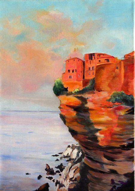 Photo Falaise De Bonifacio France Corse Peintures A L Huile