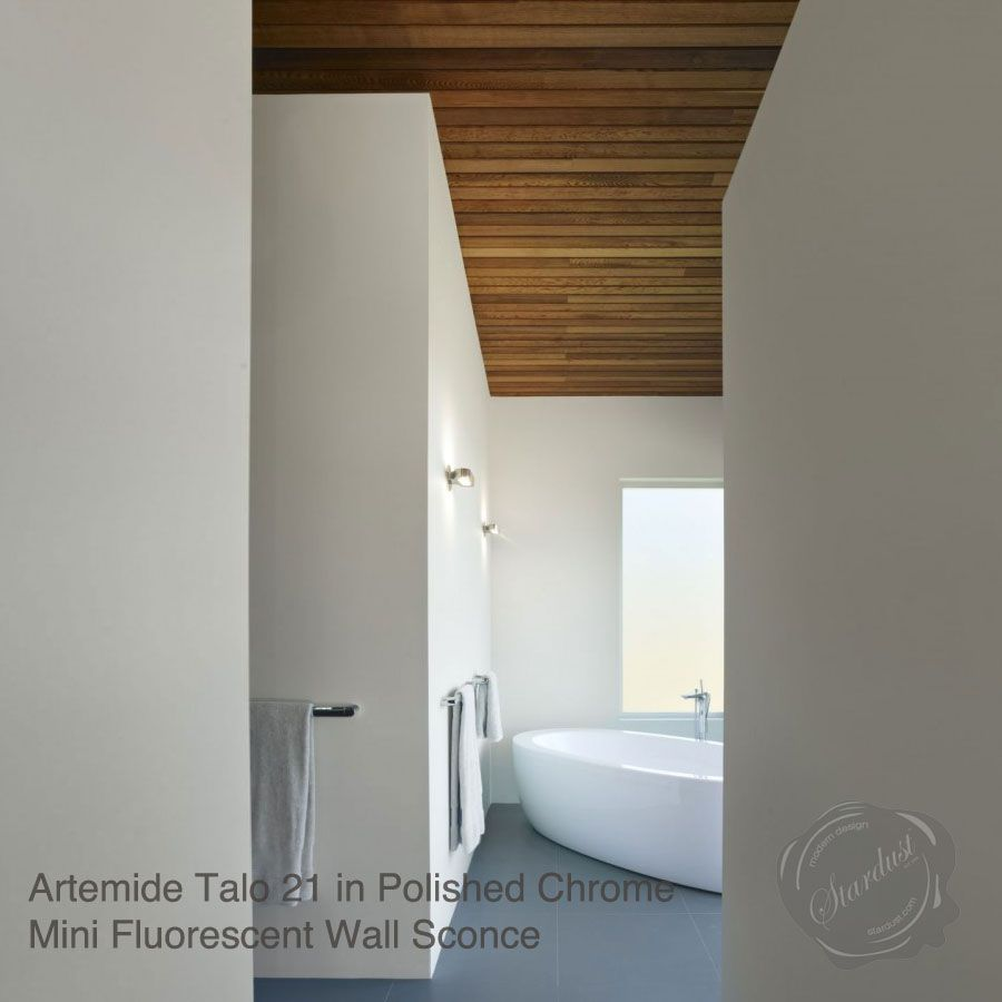 Artemide Talo 21 Mini Fluorescent Wall Sconce Stardust Wandleuchte Wand Badezimmer