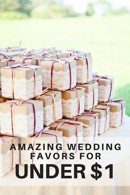 Wedding favors for less than 1 wedding ideas pinterest cute wedding favor wrapping idea with brown cardboard paper and lace junglespirit Gallery