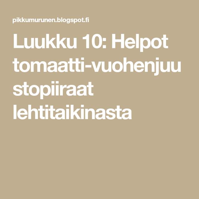 Luukku 10: Helpot tomaatti-vuohenjuustopiiraat lehtitaikinasta
