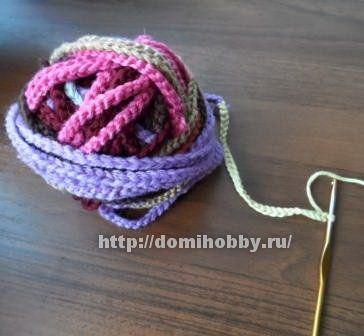 вязание коврика из остатков пряжи Crochet вязание вязание
