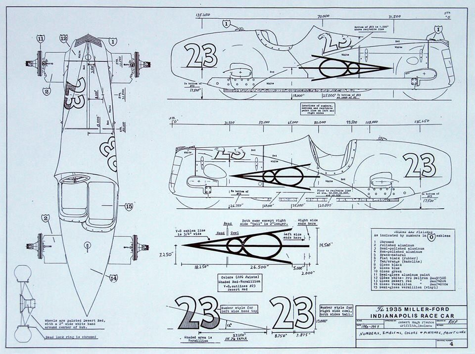 Plans for 1935 Miller-Ford Indianapolis race car | Car stuff ...