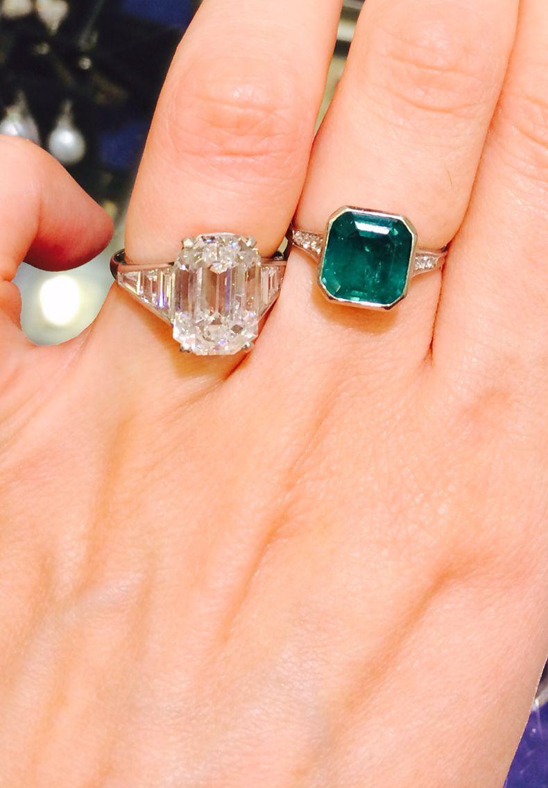 Diamond v emerald