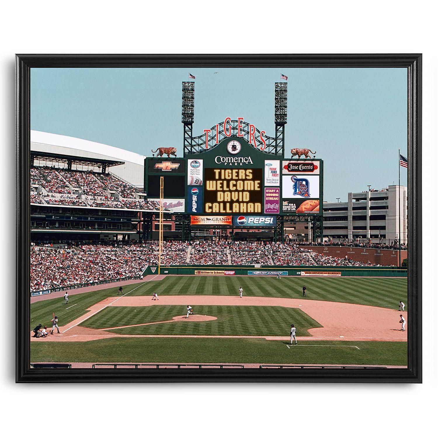 new products 2e9e8 2dceb MLB Scoreboard Detroit Tigers11x14 Canvas   Products ...