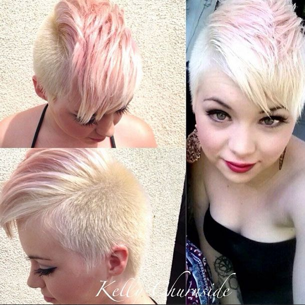 Platinum And Baby Pink Mohawk Advanced Color Theory Pinterest