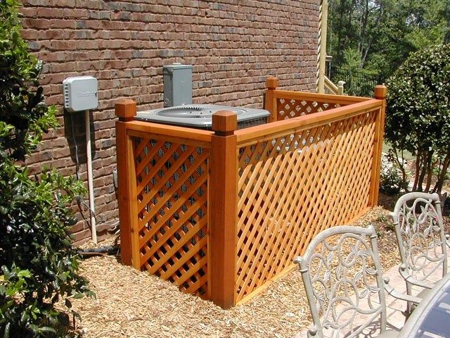 Diy fence perfect for hiding trash cans garden