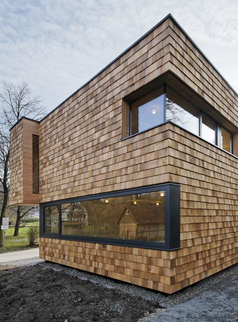 Wooden Shingles Give A Rough Texture To The Walls Of This