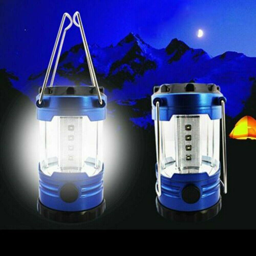 12-LED Camping Lantern Portable Battery Operated Light Outdoor Hiking Lamp Torch