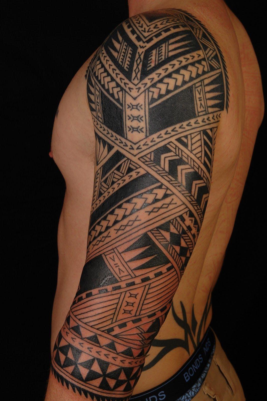 Maori Tattoo Style Full Body: SHANE TATTOOS: Polynesian 3/4 Sleeve