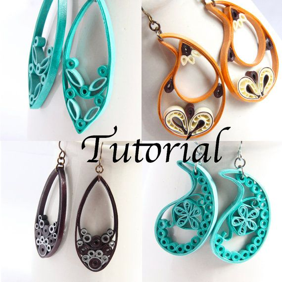 Tutorial for Paper Quilled Jewelry PDF by HoneysHive, $7 ...