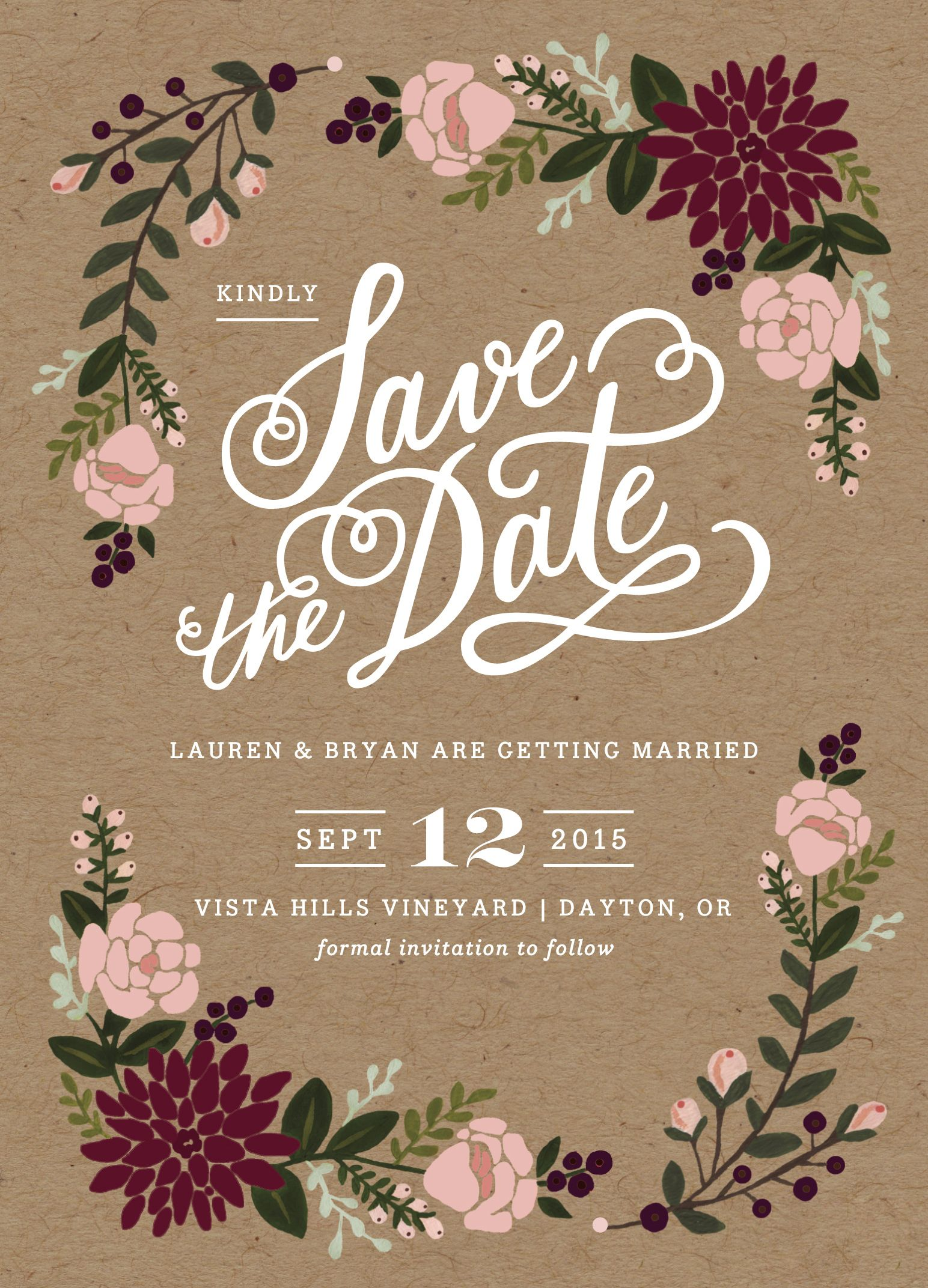 Our official save the dates wedding invitation pinterest scale